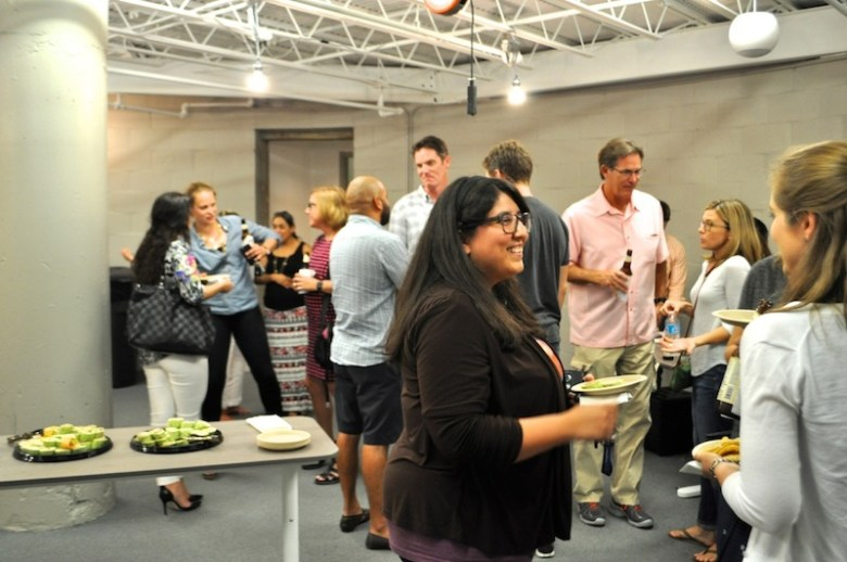 SA Next attendees enjoy Alamo Beer and other refreshments before the event. Photo by Iris Dimmick.