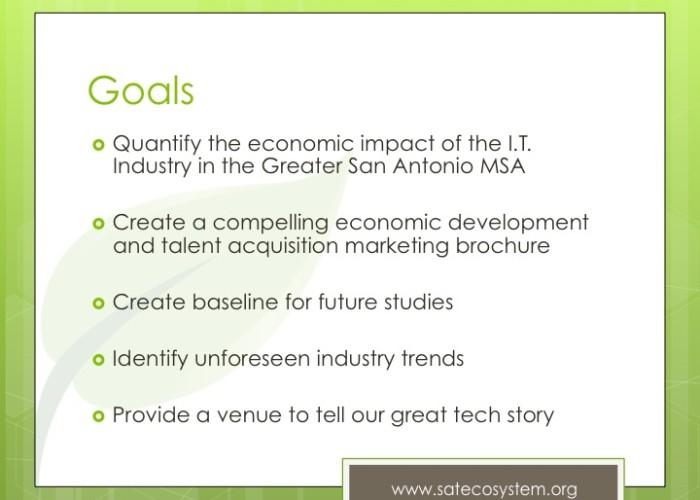 sa-tecosystem economic study goals