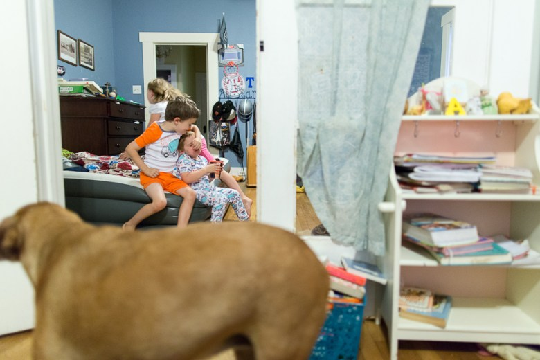 Bed time chaos at the Watkins house. Photo by Rachel Chaney.