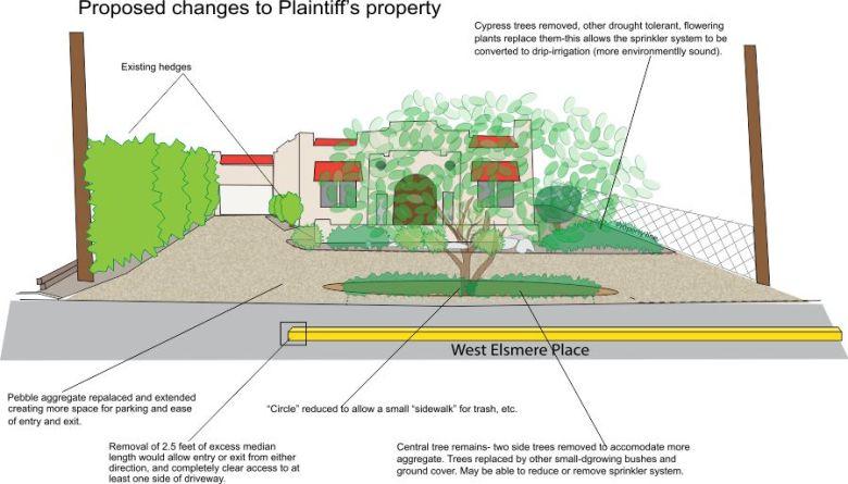 Diagram of proposed improvements to Moreno-Smith's driveway. Courtesy image.