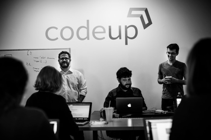 Codeup instructors lead a class. Photo by Kara Gomez.