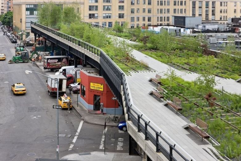High Line Park in New York. Photo courtesy of NYC Parks Department.