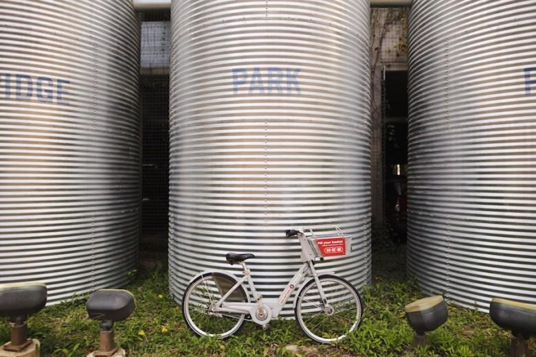 A San Antonio B-Cycle at Brackenridge Park. Photo by Scott Ball.