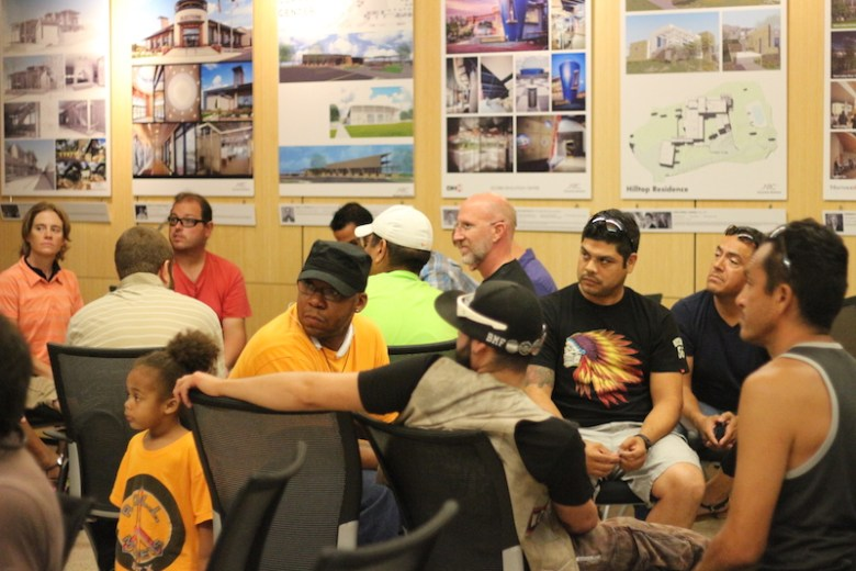 Members of the San Antonio Bike Collective gather for their first meeting on Wednesday. Photo by Joan Vinson.