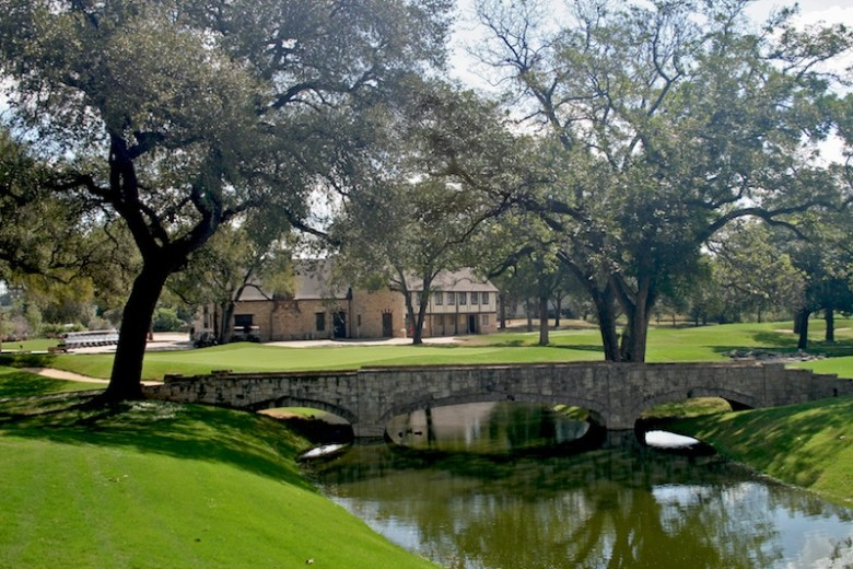 The Clubhouse sits behind the trees at Brackenridge Park Golf Course. Courtesy of Alamo City Golf Trails.