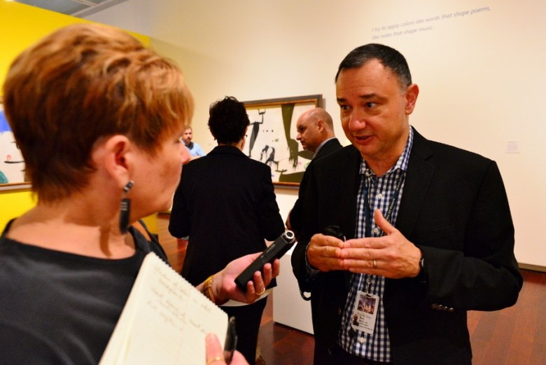 Chief Curator Rene Barilleaux. McNay Museum of Art, September 2015. Photo by Page Graham.