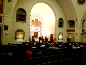 Rabbi Steve Gutow gives an anti-Semitism lecture at Temple Beth-El. Courtesy image.