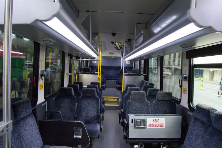Riders can now access WiFi services on any of the 700 VIA buses traveling throughout San Antonio. Photo by Lea Thompson.