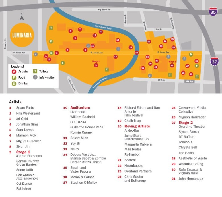 luminaria 2015 map