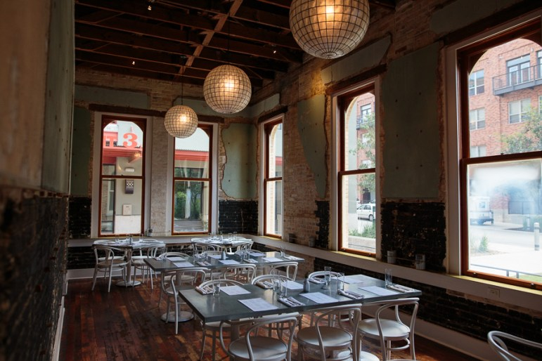 The back room at Cured, often transformed into a private party space. Photo by Scott Ball.