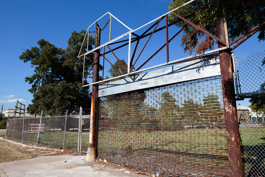 The former entrance to Playland Park at 2222 North Alamo. Photo by Scott Ball.
