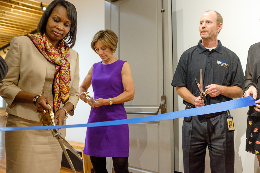 Mayor Ivy Taylor, City Manager Sheryl Sculley, and Capital Improvements Management Services Director
