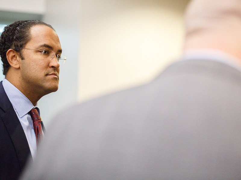 Will Hurd takes a tour of Rackspace. Photo by Scott Ball.