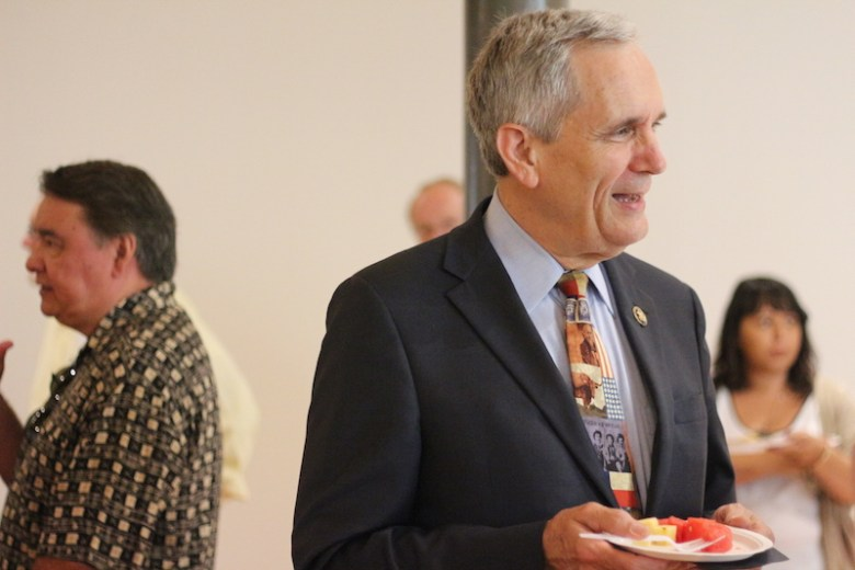 Congressman Lloyd Doggett attended the Texas Archaeology Month celebration. Photo by Joan Vinson.