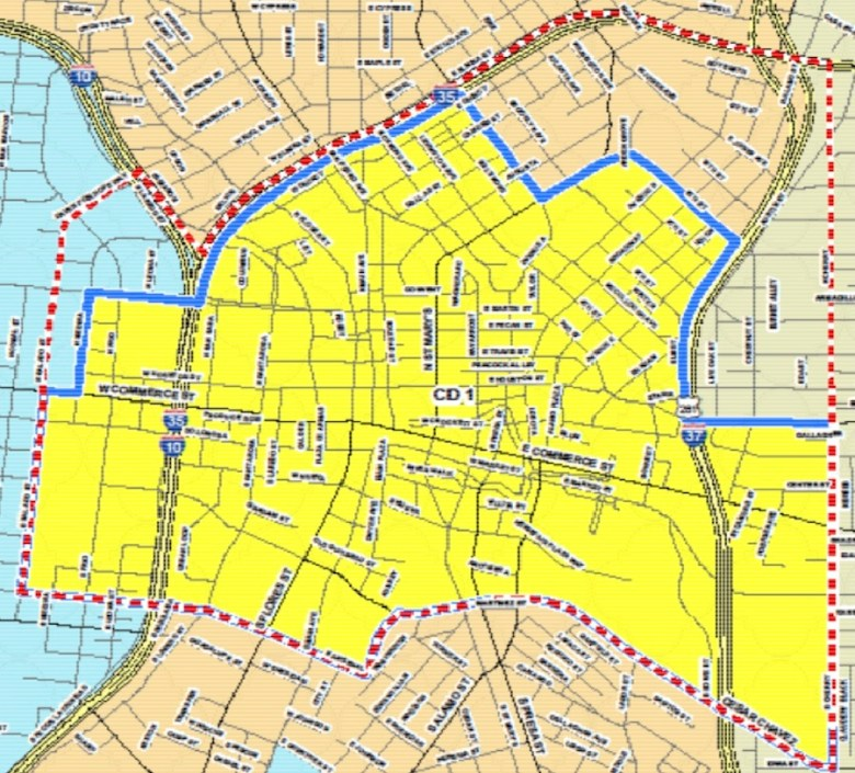 Special Downtown Mobile Food Vending Permit Area. Image courtesy of COSAGOV.