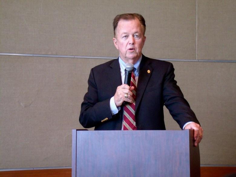 City Councilmember Joe Krier (D9) speaks at the Business Empowerment (BE) San Antonio awards luncheon at the San Antonio International Center on Wednesday, Oct. 28, 2015. Photo by Edmond Ortiz