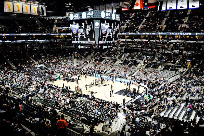 The AT&T Center renovations offer Spurs fans a better viewing and game experience. Photo by Lea Thompson.