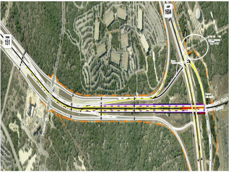 Loop 1604 and Highway 151. Image courtesy of Bexar County.