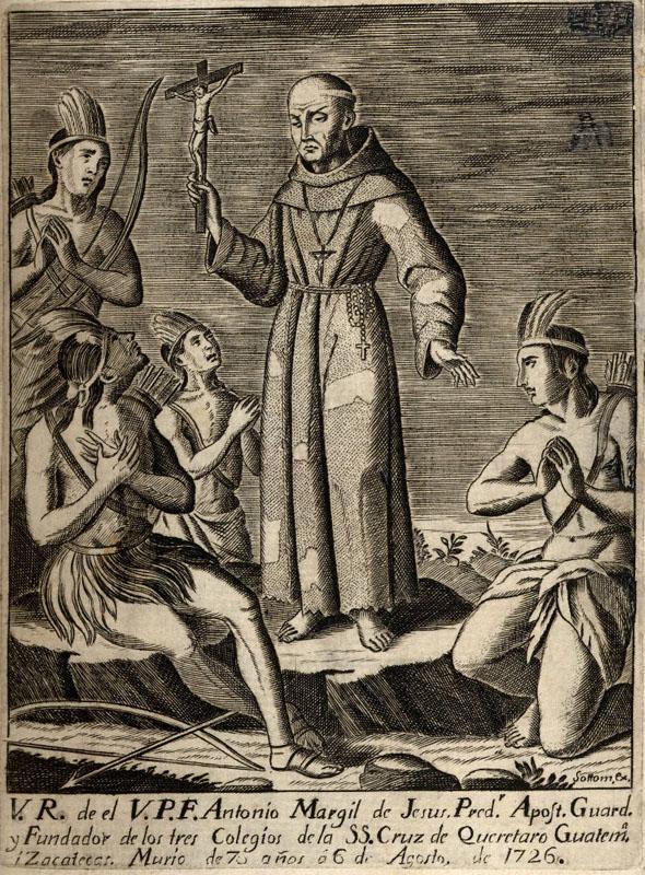 Fray Antonio Margil de Jesús, the Patron Saint of Texas, founded Mission San Jose in 1720. Image courtesy Sephen F. Austin State University.
