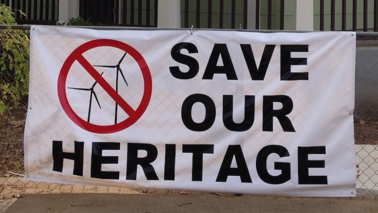 no wind turbines