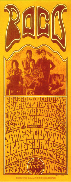 San Antonio band, the Water Brothers, was one of the musicians advertised on this flyer for the Vulcan Gas Company in 1969. Image courtesy Jim Harter.