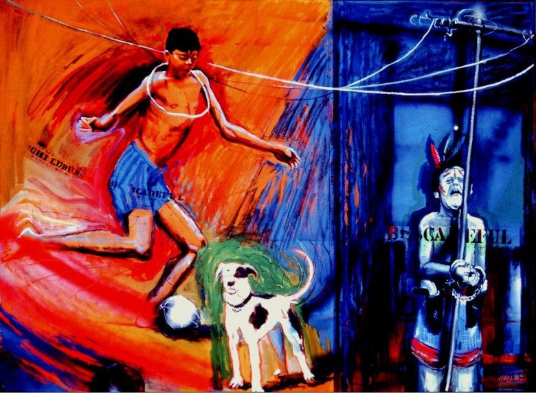 """""""High Noon,"""" 1984, oil on canvas, 72 x 96 in. By Gary Schafter."""