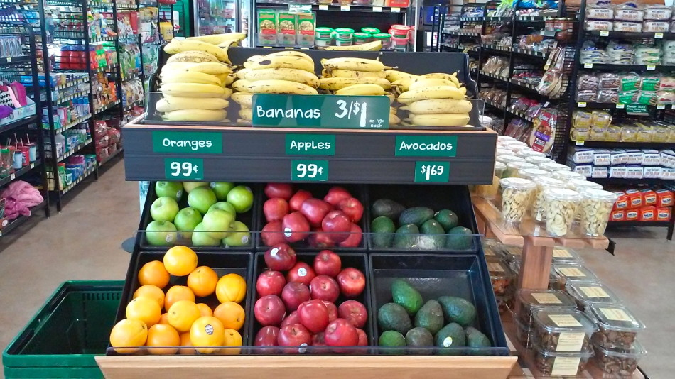 New-look Corner Stores will have a larger selection of fresh produce and other traditional grocery items. Photo by Edmond Ortiz.