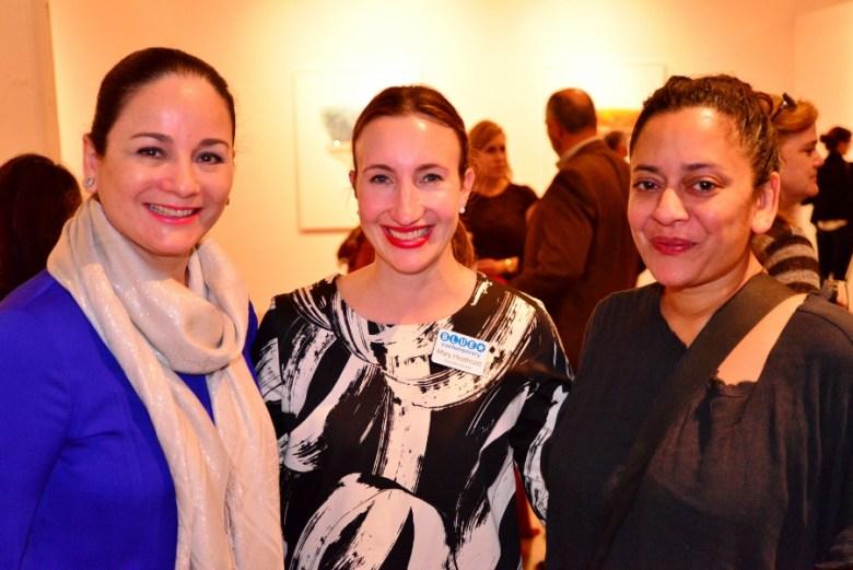 (From left) Patricia Ruiz-Healy, Mary Heathcott, and Anjali Gupta. Photo by Page Graham.