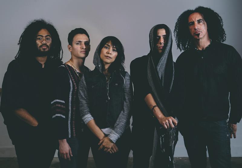 Femina-X is (from left) Darian Thomas, Jeff Palacios, Daniela Riojas, Alex Scheel, and Jai Roots. Photo courtesy of Femina-X.