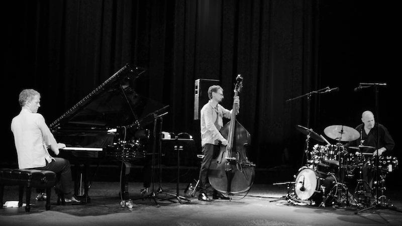 Brad Mehldau Trio on stage at the Aztec Theatre. Photo by Stephanie Crain.