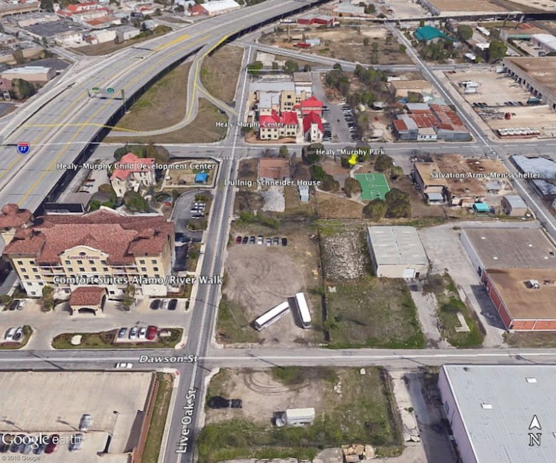 Healy-Murphy Park area. Courtesy of Google Maps.