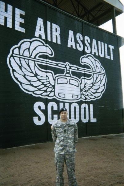 U.S. Army veteran Jon Arnold at Air Assault School. Photo courtesy of Jon Arnold.