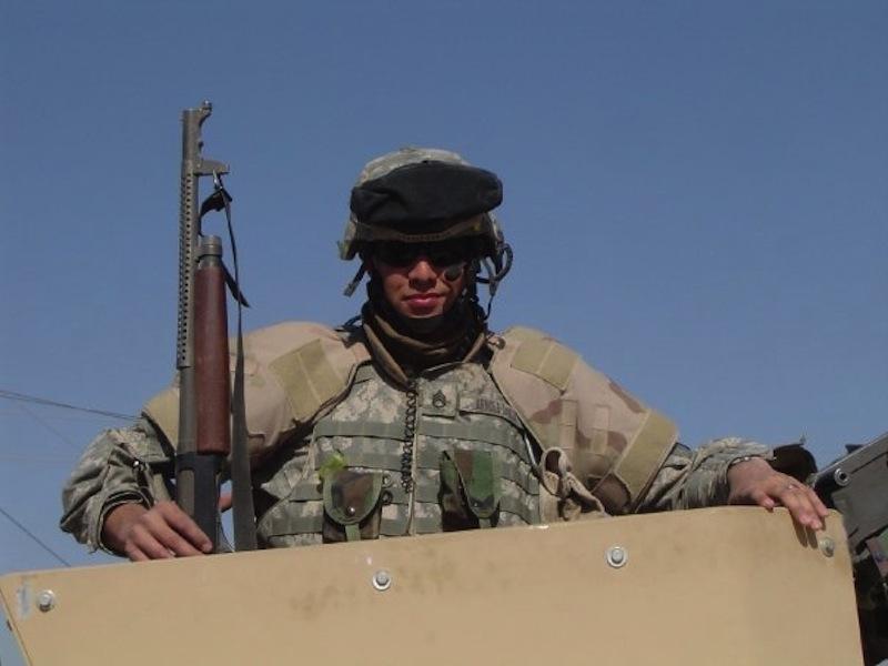 U.S. Army veteran Jon Arnold in Iraq. Photo courtesy of Jon Arnold.