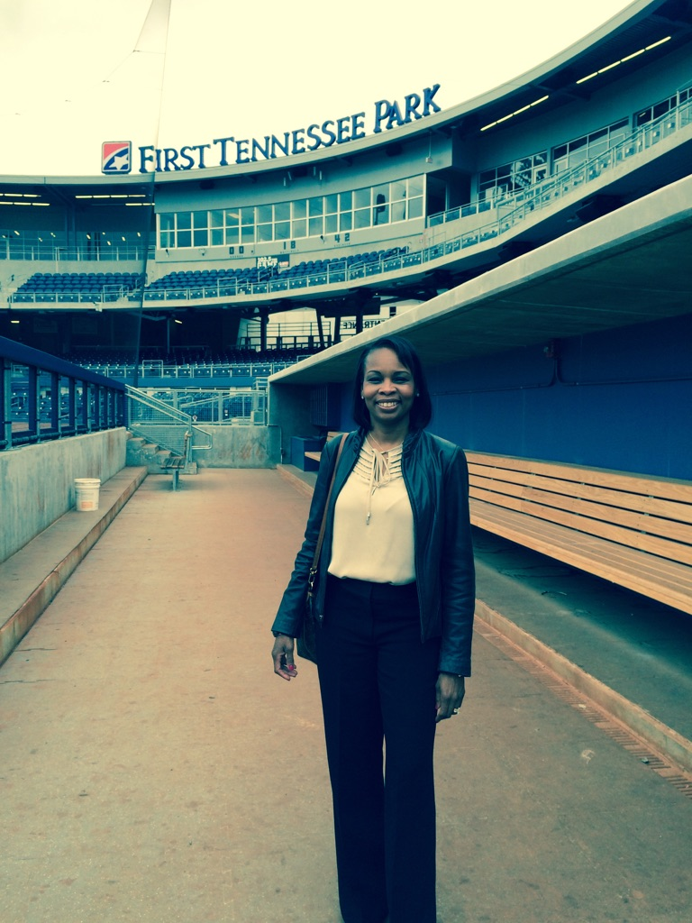 Mayor Ivy Taylor visited First Tennessee Park, a Triple A minor league baseball stadium in Nashville, on Thursday, Nov. 5, 2015. The visit was part of her trip to a National League of Cities event in Nashville. Photo courtesy of Ivy Taylor.