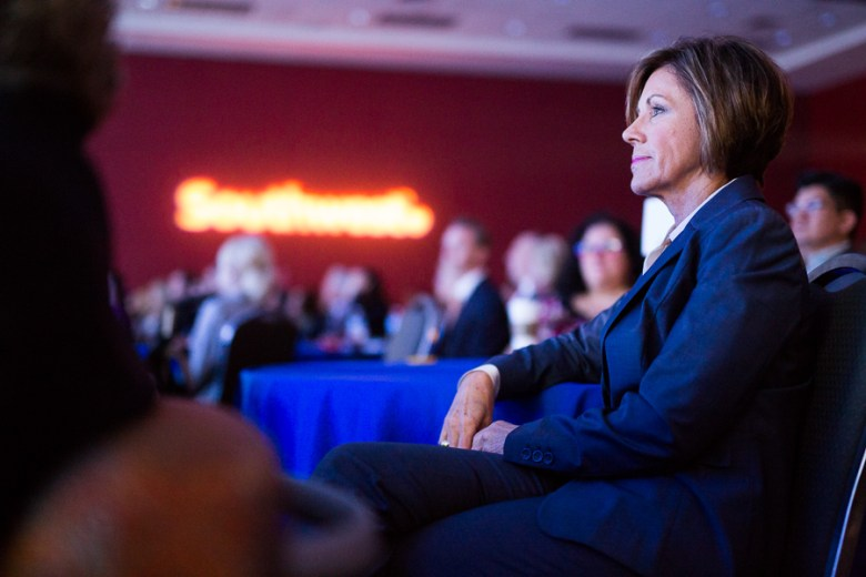 San Antonio City Manager Cheryl Sculley observes a presentation from the Henry B. Gonzalez Convention Center.. Photo by Scott Ball.