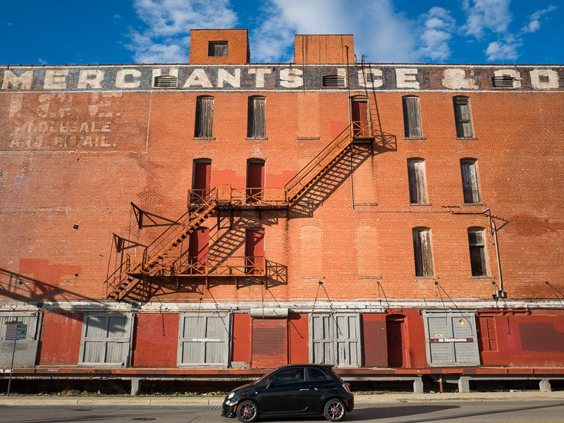 Merchant's Ice and Cold Storage Building on East Houston Street. Photo by Scott Ball.