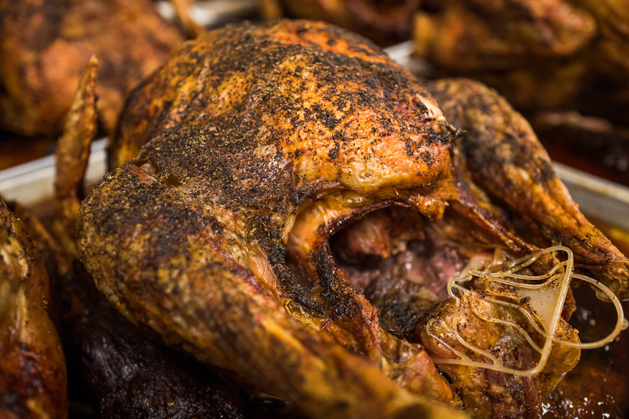 A turkey just pulled from the oven. Photo by Scott Ball.