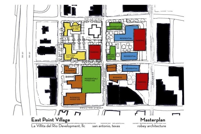 La Villita del Rio Development's site plan for East Point Village.