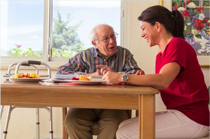 Talking with your loved ones about their care needs can be beneficial to you both. Photo by Kim Cook/Courtesy of Homewatch International, Inc.