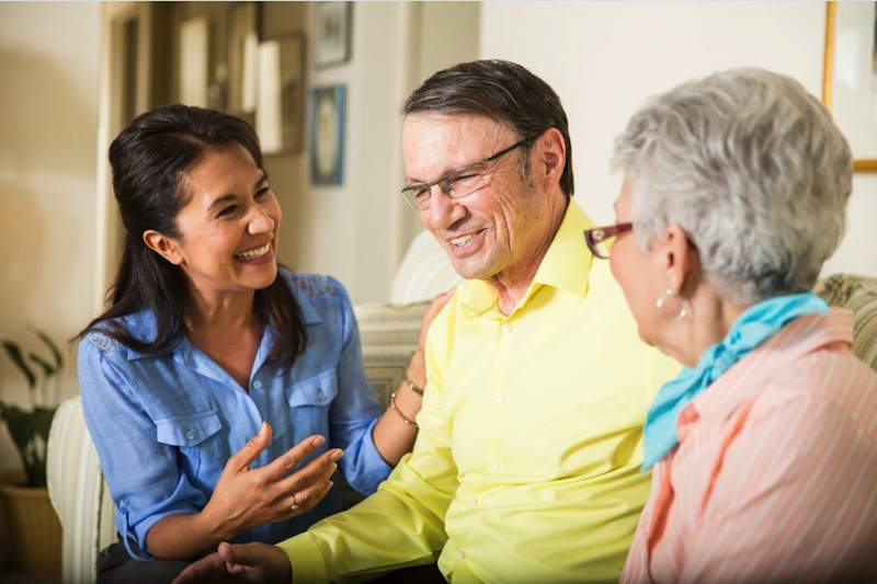 Your elder parents may welcome a conversation about future care needs. Photo by Kim Cook/Courtesy of Homewatch International, Inc.