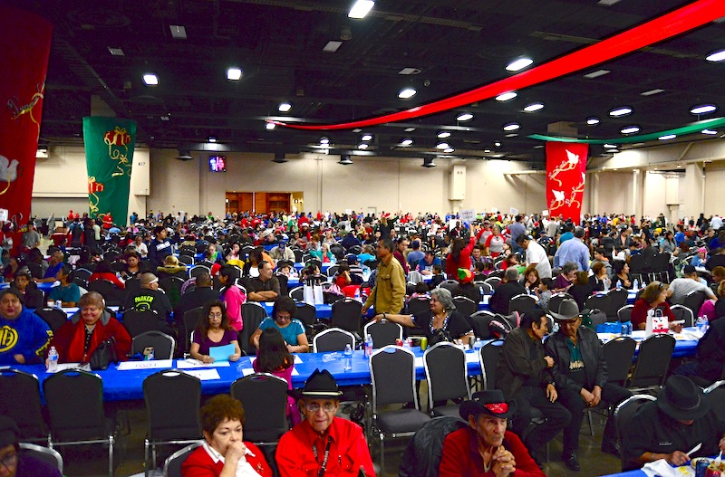 The 2014 H-E-B Feast of Sharing fills an exhibit hall in the convention center every year. Photo by Page Graham.
