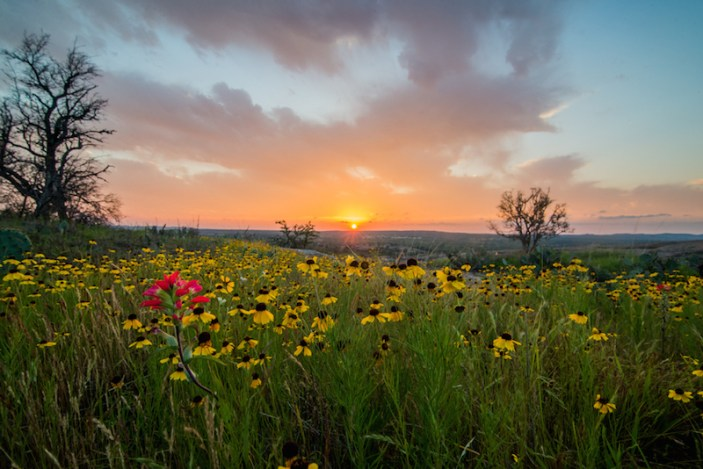 Sunset in the Texas hill Country. Photo by Jonathan Vail.