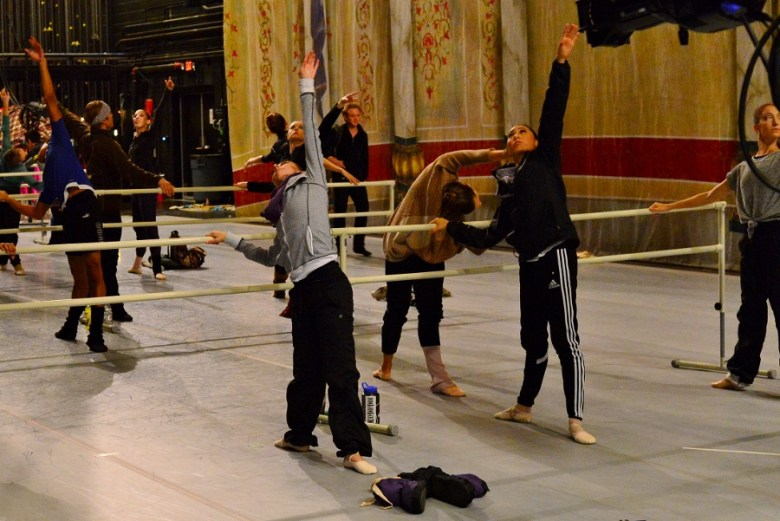 """Company barre and warm up before """"The Nutcracker."""" Ballet SA 2015. Photo by Page Graham."""