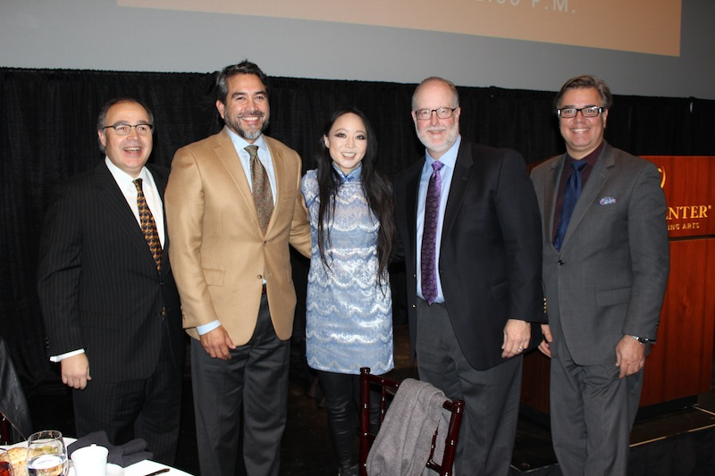 L to R: SAHCC President Ramiro Cavazos, Councilman Robert Treviño (D1), artist Candy Chang, Dr. Steve Nivin of SABER Institute and DCCD director Felix Padrón were in attendance during the Annual Creative Industry Luncheon held on Tuesday, Dec. 1