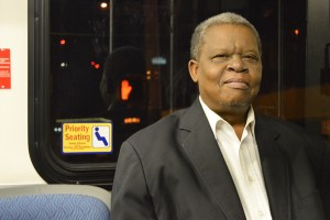 VIA rider John Arledge takes the bus downtown everyday to his job at the Menger Hotel.Photo by Lea Thompson.
