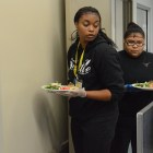L to R: Denesha Ketchum and Monissa Coster are among the incoming class of culinary students in 2016. Photo by Lea Thompson.