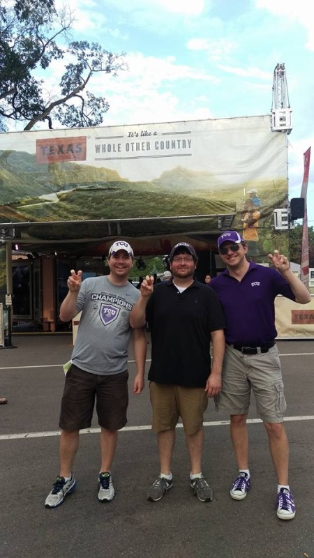 TCU fans represent their Horned Frogs. Photo by Drew Irwin.