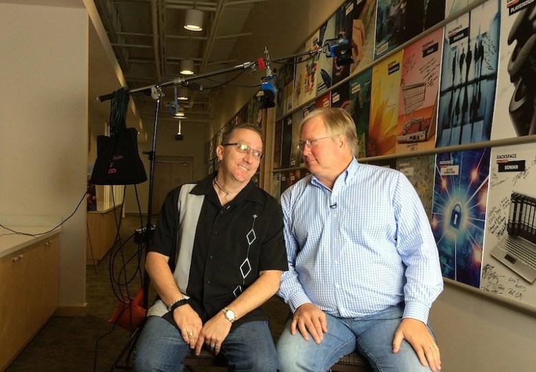 Geekdom co-founders Nick Longo (left) and Graham Weston. Photo courtesy of Graham Weston.