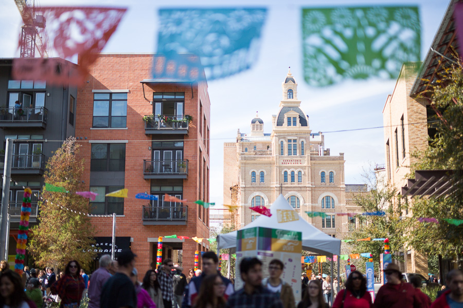 A scene of the Pearl Brewery during the popular Tamales event. Photo by Scott Ball.