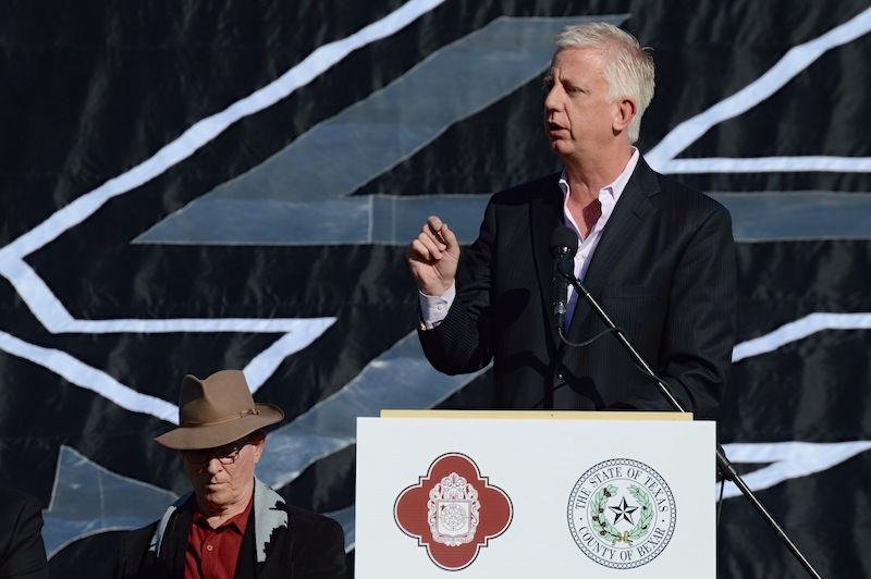 Gordon Hartman, San Antonio Scorpions owner, discusses his shared goal to bring a MLS team to San Antonio. Photo by Lea Thompson.